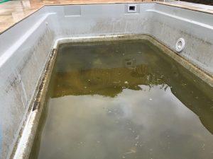 Čistenie bazénov.
